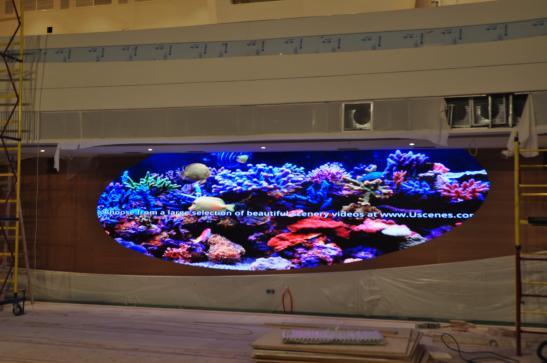 Внутренний экран в актовом зале главного здания Росатом изображение 5