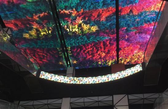 """Светодиодный потолок в торговом центре """"Нора"""" изображение 4"""