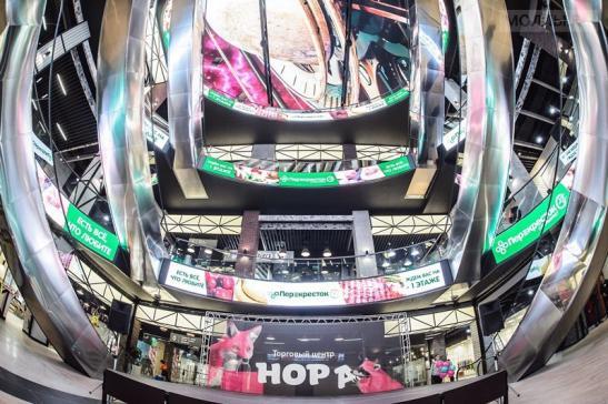 """Светодиодный потолок в торговом центре """"Нора"""" изображение 5"""