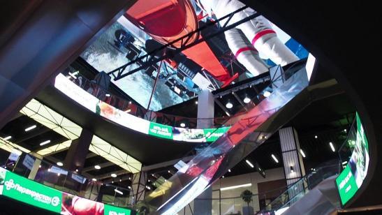 """Светодиодный потолок в торговом центре """"Нора"""" изображение 6"""