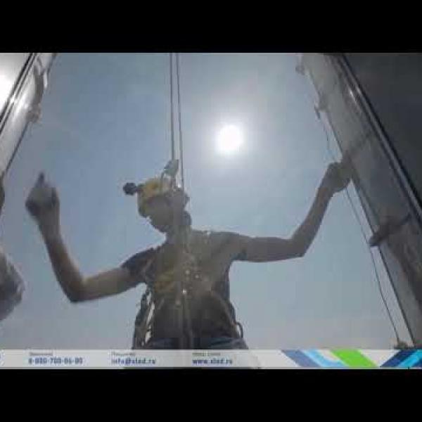 Светодиодный экран на Башне Халифа