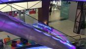 Светодиодные перекрытия между этажами ТРЦ