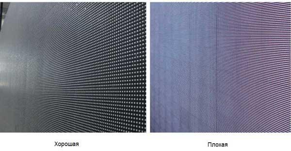 Не работающие пиксели - характеристики светодиодного экрана