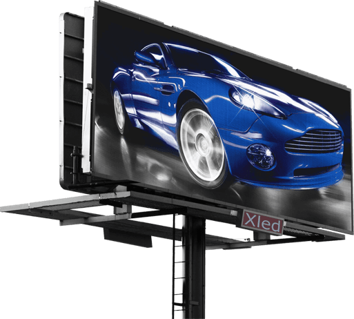 Уличный светодиодный LED экран слайдер