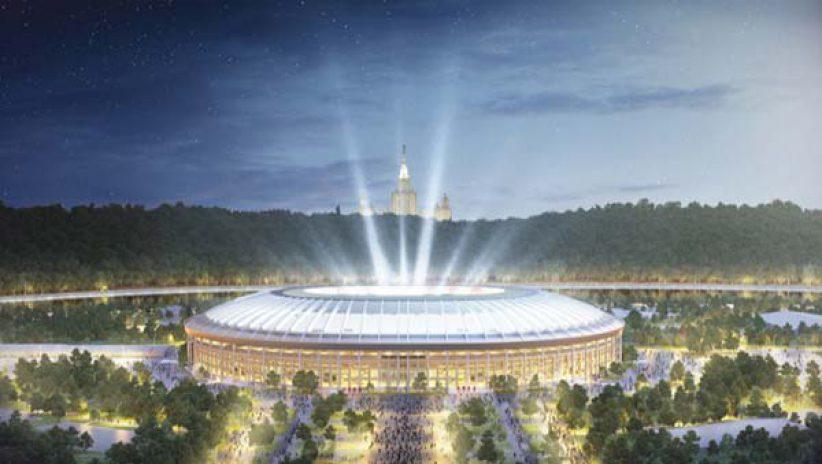 Светодиодный LED экран на крыше стадиона