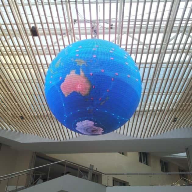 Светодиодная сфера глобус