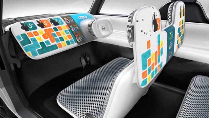Светодиодный салон автомобиля, концепт
