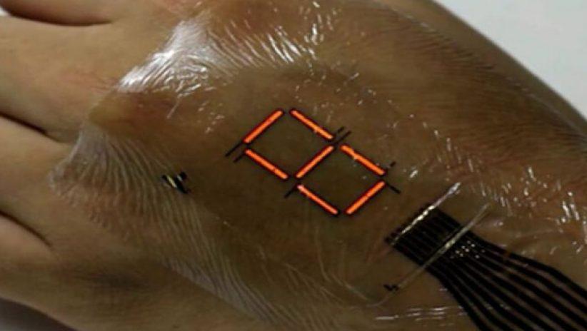 Светодиодный экран… на коже