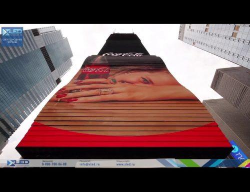 Живой светодиодный экран на Times Square